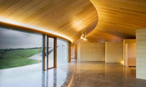 оригинальный дизайн деревянного потолка