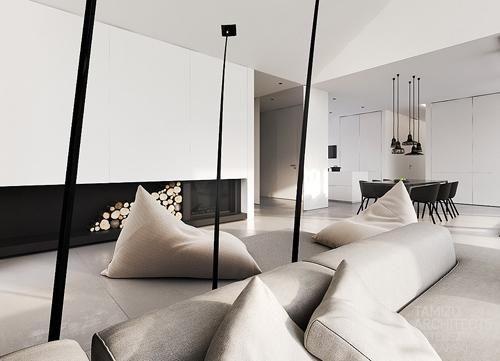 черно-белая гамма для частного дома