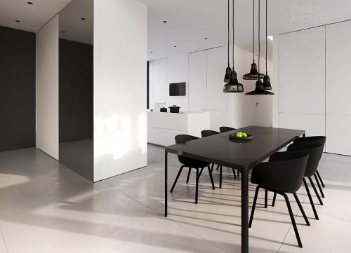 черная мебель для столовой