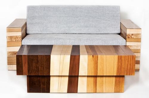 диван и журнальный столик из отходов древесины