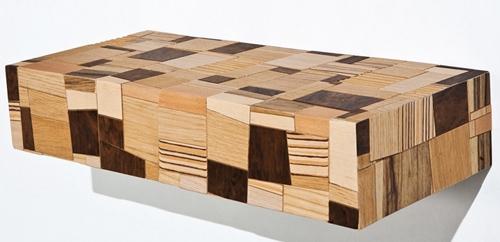 оригинальная мебель из древесных отходов