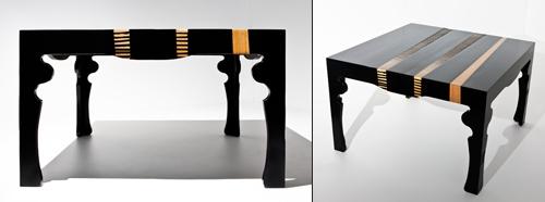 роскошный стол из отходов производства