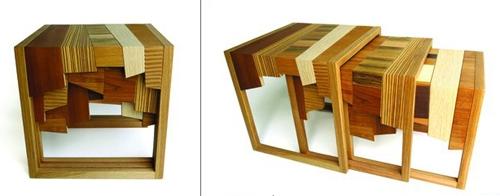 оригинальный комплект мебели из отходов