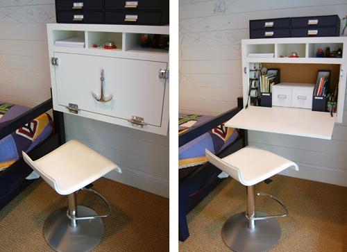 настенный столик секретер в морском стиле