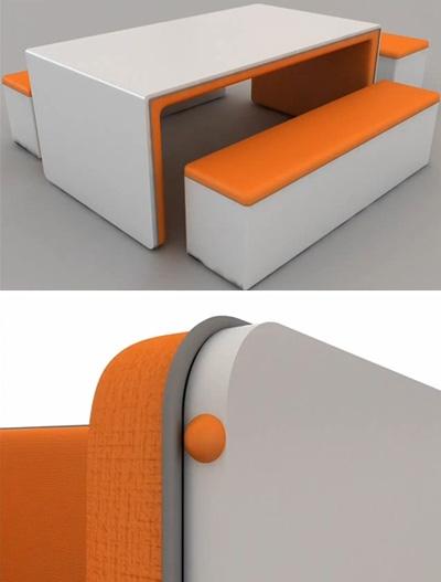 спинка дивана как удобный стол