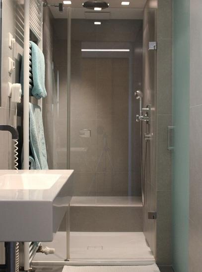 дизайн ванной в серой гамме