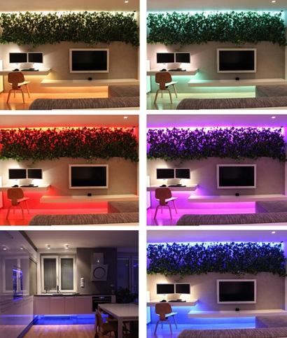 световой декор с помощью светодиодной ленты