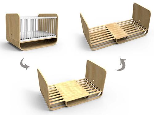 дизайн растущей кровати на разных этапах