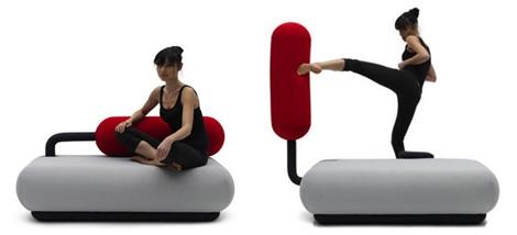 стильный современный маленький диван