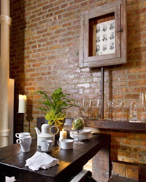 романтическая столовая в деревенском стиле