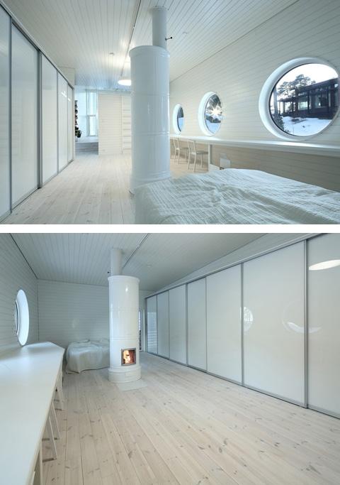 дизайн белой спальне