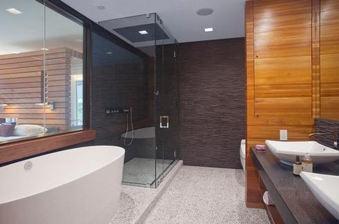 внутренняя перегородка в ванной комнате