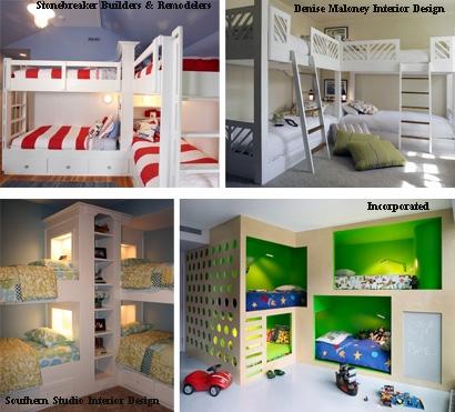 варианты углового расположения кроватей в детской комнате