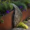 камни с сталь в ландшафтном дизайне