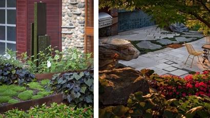 проект дизайна внутреннего дворика
