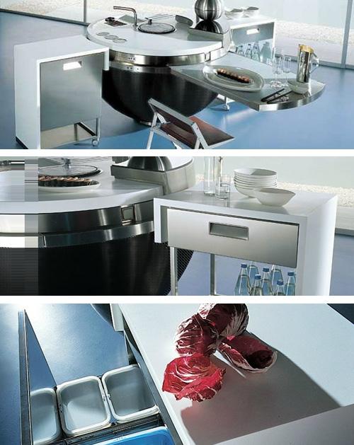 выдвижные и мобильные модули для кухонного острова