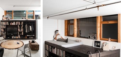 гостевая спальня на верхнем уровне мебели