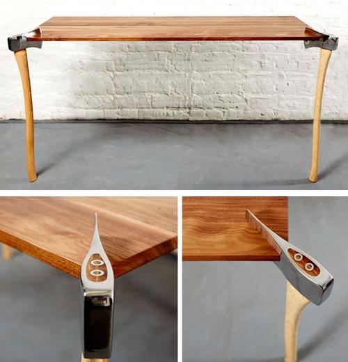 необычный стол дровосека