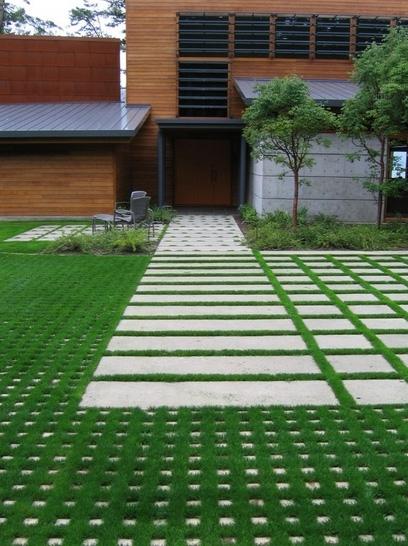 дорожки и площадки в современном дворе