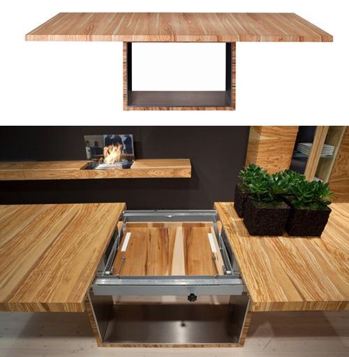 удобный раздвижной стол