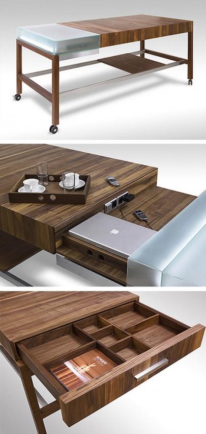 стол с встроенным модулем для ноутбука