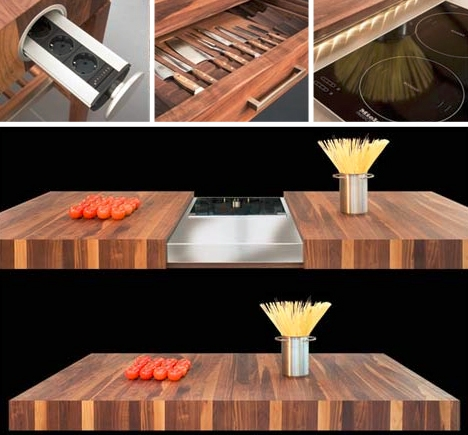 функциональный стол с секретом