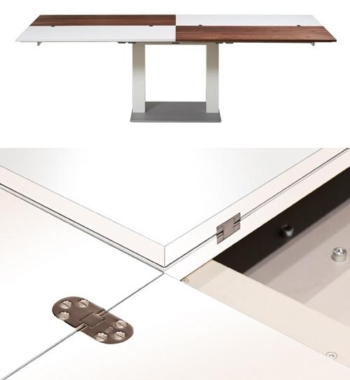 стол с откидными секторами столешницы