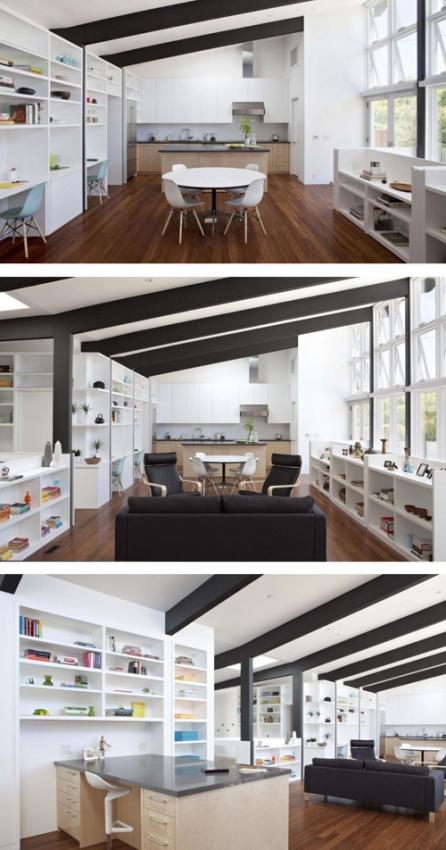 открытый интерьер частного дома