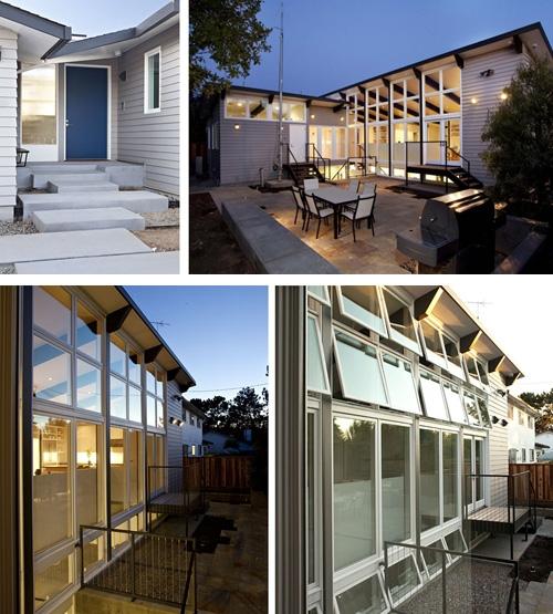 частный дом с солнечными фотоэлементами