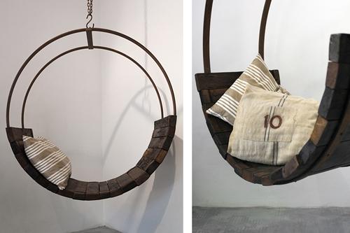 винтажная мебель из старой винной бочки