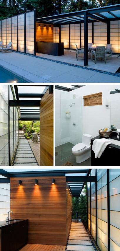 павильон с полупрозрачными стенами и крышей