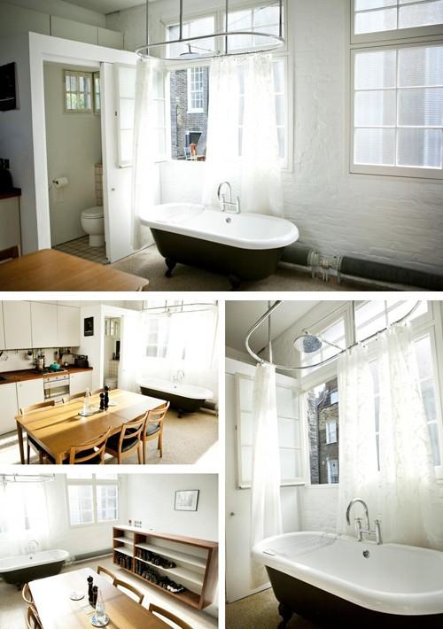 отдельно стоящая ванна в студии