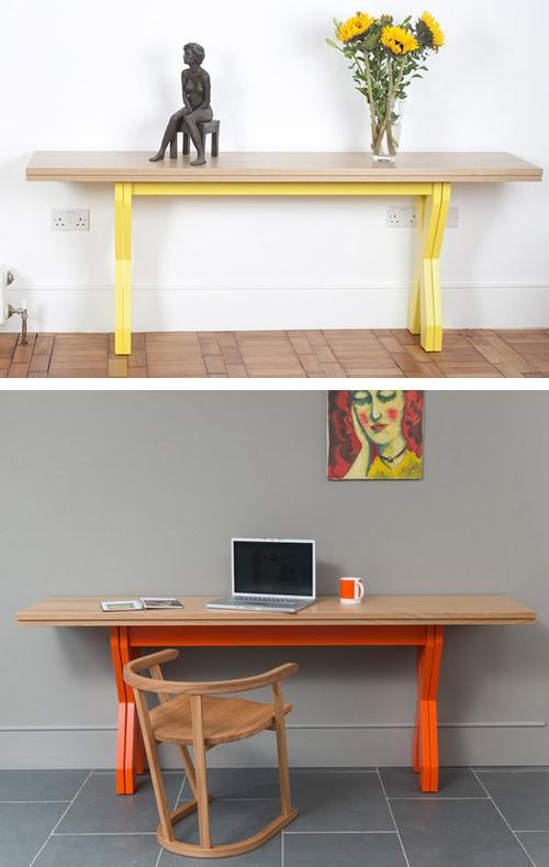 варианты использования стола в сложенном состоянии
