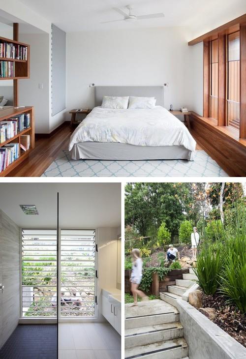 спальня, ванная и внешний дворик