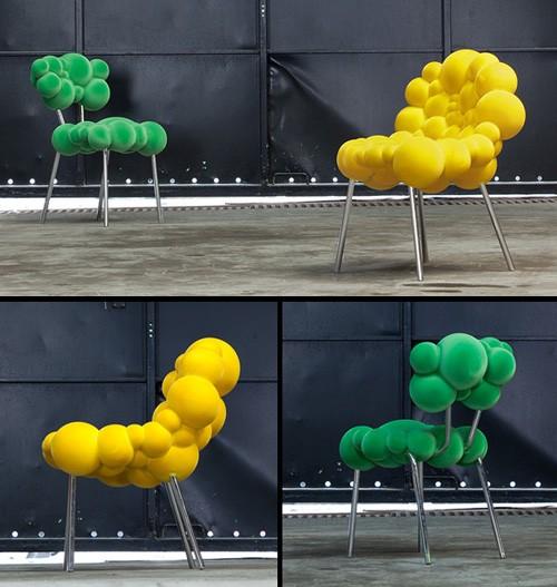 сферический дизайн стульев