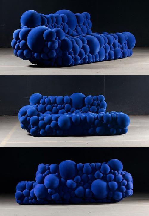 дизайн дивана из сферических элементов