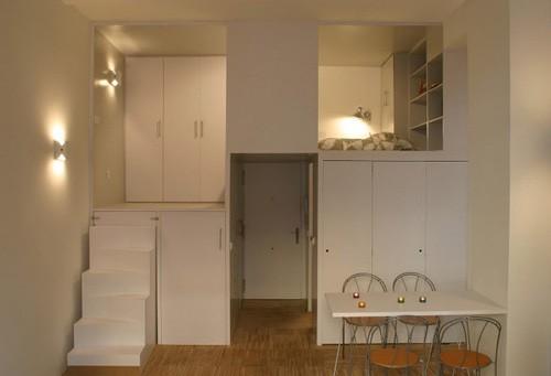 вместительные зоны хранения в маленькой квартире