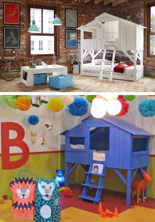 детские кровати в стиле домиков на дереве