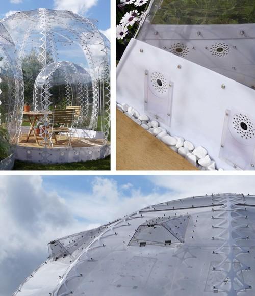 естественная вентиляция в домике из поликарбоната