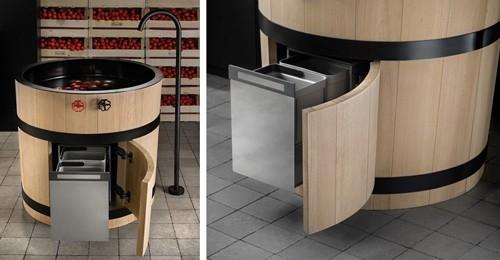 дизайн кухонного модуля с мойкой
