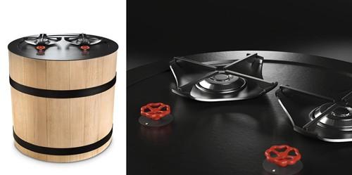 дизайн свободностоящей кухонной плитой
