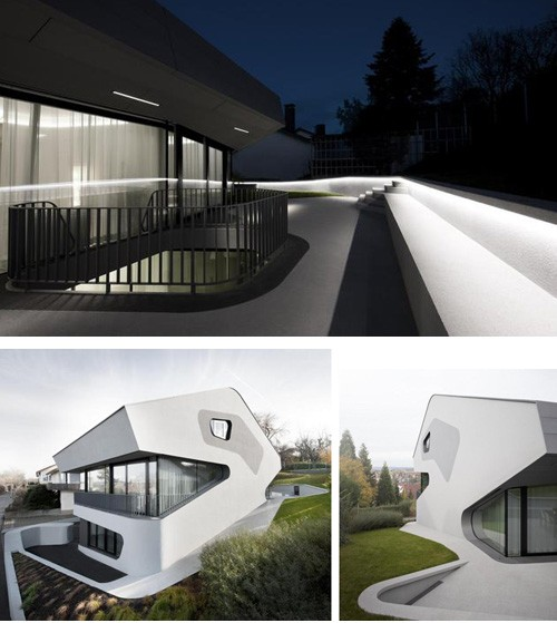 экстерьер бетонного дома