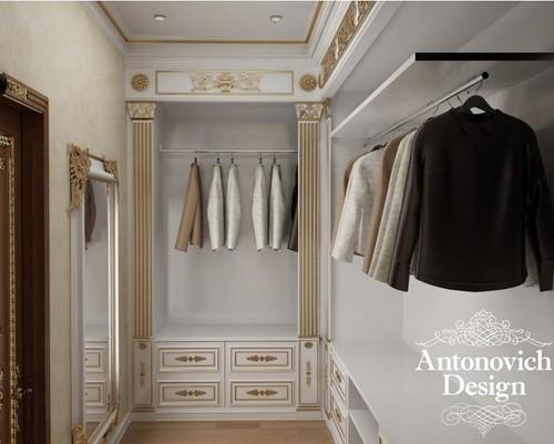 дизайн гардеробной в стиле ампир