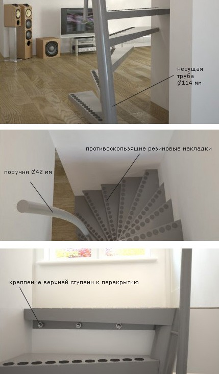 детали конструкции лестницы