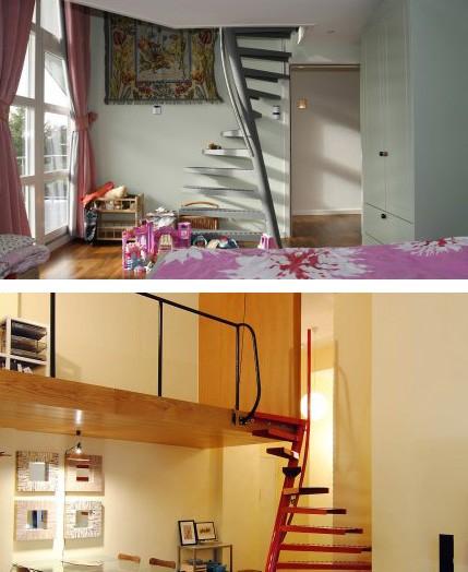 варианты использования лестницы в интерьере