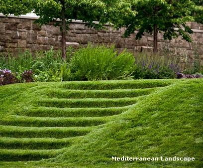 высокая травяная садовая лестница