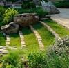 садовые лестницы с травяными ступенями
