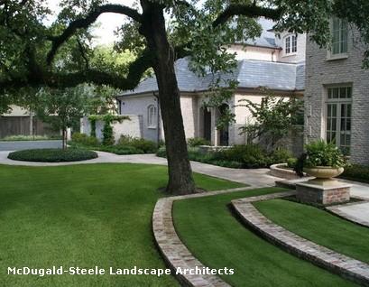 травяная лестница для классического и традиционного ландшафта