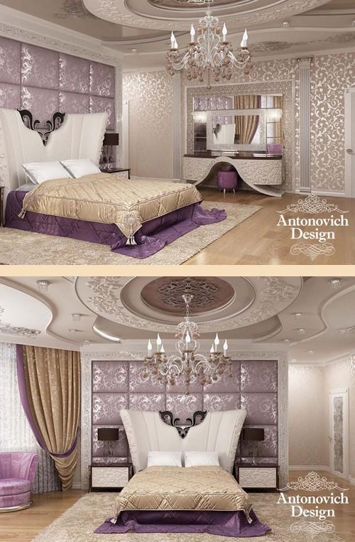 оригинальный декор изголовья кровати