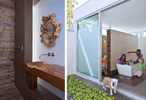 ванная с раздвижными дверьми